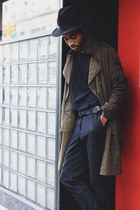 Pendleton hat - asos jacket - Zara pants - acne t-shirt