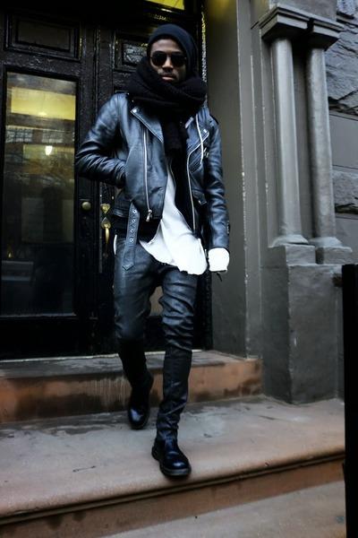 black doc martens boots - black Crash Bang Boom coat