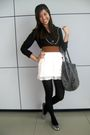 Black-blouse-silver-shoes-gray