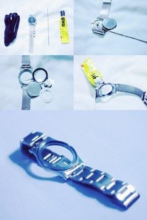 metallic DIY watch