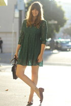forest green vintage lace All That Jazz dress