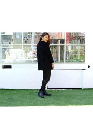 black Forever 21 boots - black H&M blazer