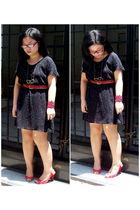 black Harajyukue dress - Dumond shoes