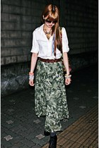 camouflage vintage skirt - Michael Kors sunglasses - Jeffrey Campbell heels