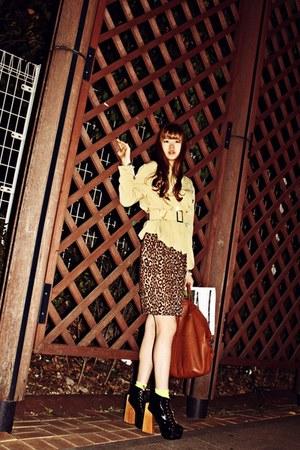 black Jeffrey Campbell heels - dark brown Givenchy bag