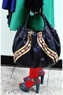 Navy-fendi-bag-gold-kenzo-earrings-turquoise-blue-prada-heels