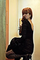 black Jill Stuart jacket - black Jessica Simpson heels