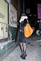 black Jeffrey Campbell heels - silver Human Potential scarf