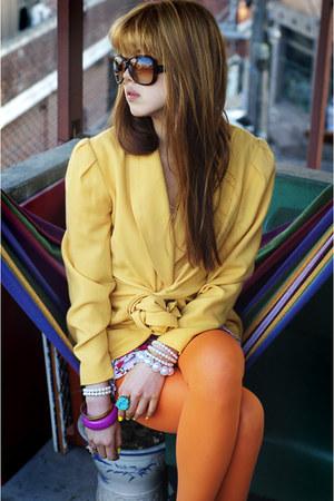 hot pink Kristines Collection dress - dark brown Bottega Veneta sunglasses