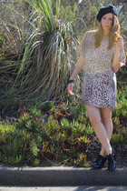 vintage dress - Forever21 hat - payless shoes