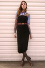 Thrfited-shoes-thrifted-dress-gap-tights-thrifted-belt-estate-sale-blous