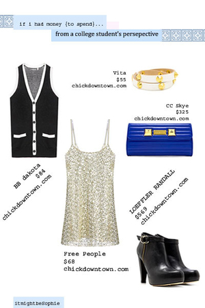 BB Dakota vest - free people dress - loeffler randall boots - Vita bracelet - CC