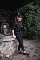 black Zara shoes - black H&M jeans - black H&M hat - black H&M shirt