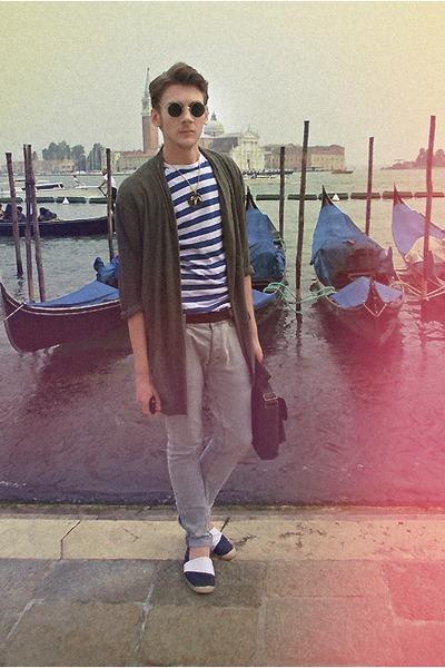 Zara shoes - H&M shirt - Topman bag - H&M pants - Zara cardigan