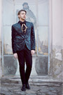 Black-zara-shoes-navy-blazer-black-calvin-klein-shirt-black-h-m-pants