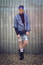 Teal-zara-jacket-off-white-h-m-socks