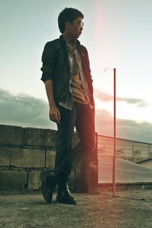 black black Hudson & Co boots - black black Lee jeans