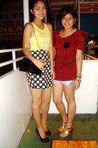 black Rockwell Bazaar skirt - yellow Zara top - black Zara purse - black The Ram