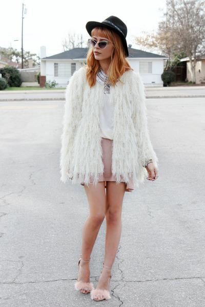 off white Little Mistress jacket - black felt Shopbop hat