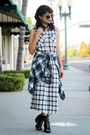 Black-lace-up-boots-forever-21-boots-white-plaid-forever-21-dress
