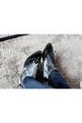 Heather-gray-velvet-boots-navy-two-tone-pacsun-jeans-black-fedora-hat
