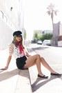 Black-hat-black-h-m-shorts-black-oxfords-loafers