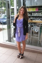 Honey and Beau dress - Dianne Von Furstenburg blazer - Mollini shoes - purse - M