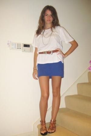 t-shirt - Shakuhaci dress - belt - shoes - accessories