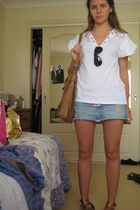 Zimmermann t-shirt - Ksubi skirt - Chanel sunglasses - Lili purse - shoes