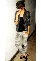 sm dept store jacket - vintage top - Folded and Hung pants - Leaveland shoes - M