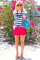 Loft shirt - Target purse - Gap shorts - TODs sunglasses - vintage necklace - Ch