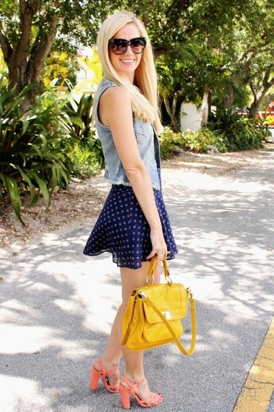 Lilly Pulitzer skirt - Rebecca Minkoff purse