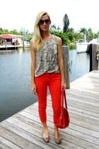 silk ann taylor blouse - dittos jeans - Mat & Nat purse
