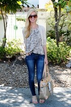 ann taylor shirt - Old Navy jeans - Forever 21 sandals