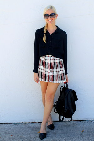 Forever 21 skirt - French Connection bag