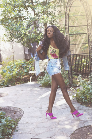 Gap jacket - H&M shorts - Jessica Simpson heels