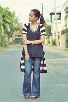 black stripes coco cabana cardigan - navy Karen Jeans jeans