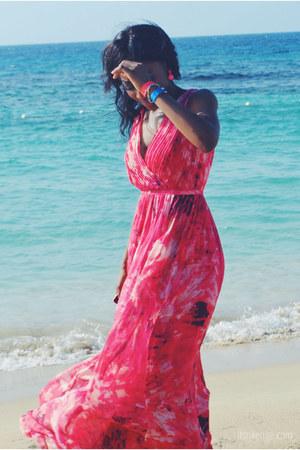 bubble gum maxi dress Halston Heritage dress