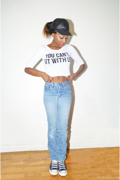 White Jeans Levis Sky Boyfriend Tops Graphic Tee Ebay Blue rFr70q