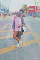 light pink romper Sharon E Clarke romper - silver Target sweater