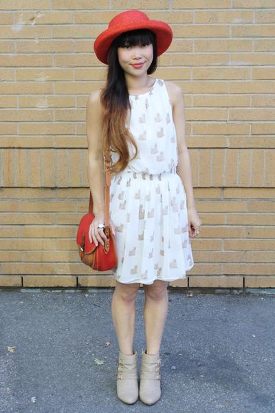 cat print dress Zara dress