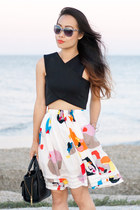 white Objects Without Meaning skirt - black 31 Phillip Lim bag