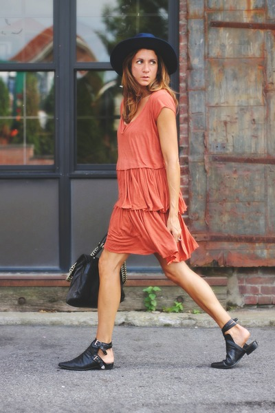 burnt orange free people dress