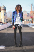 blue INC jacket - Kurt Geiger boots - Levis shorts - Gap t-shirt
