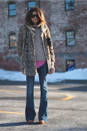 leopard print coat - 7FAMK jeans