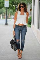 white asos shirt - Elizabeth&James jeans
