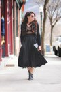 Black-vintage-skirt