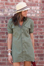 Olive-green-dress-fedora-hat