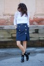 Navy-marc-by-marc-jacobs-skirt-white-vintage-top