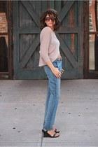 Rag and Bone jeans - beige shirt